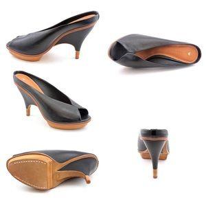 97a798ba943 Anthropologie Shoes - Leifsdottir Inga peep toe heels in brown